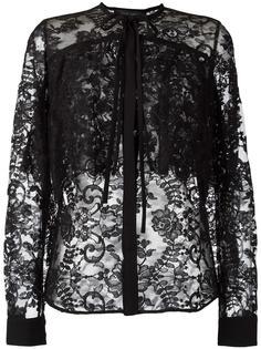кружевная рубашка с завязкой на бант Elie Saab