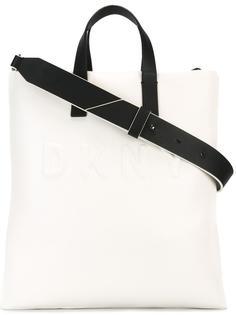 сумка-тоут с тисненым логотипом DKNY