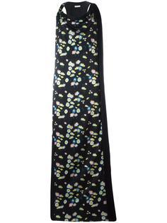 длинное платье с цветочным рисунком Paco Rabanne