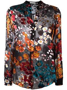 прозрачная рубашка с цветочным принтом Alice+Olivia