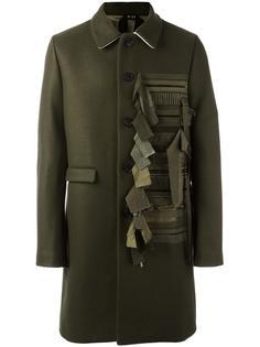 пальто с контрастной панелью Nº21