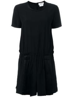 комбинезон с шортами в складку DKNY