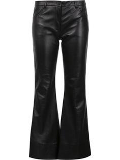 расклешенные кожаные брюки Natasha Zinko