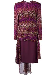 платье с леопардовым принтом Jean Louis Scherrer Vintage