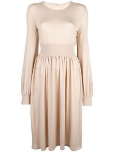 платье с присборенной талией Agnona