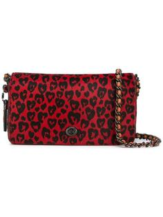 leopard print cross body bag Coach