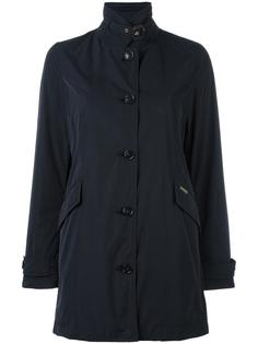 banded collar buttoned coat Woolrich