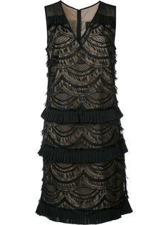 многослойное кружевное платье Nicole Miller