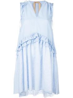 расклешенное платье с V-образным вырезом Nº21