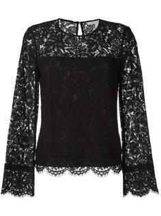 блузка с кружевной отделкой Diane Von Furstenberg