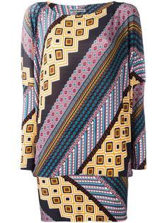 printed pattern top Issey Miyake