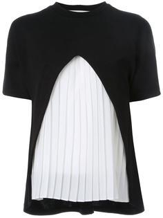 футболка с плиссировкой Taro Horiuchi