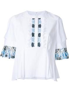 pleated sleeves blouse  Peter Pilotto