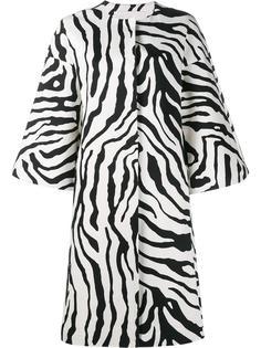 пальто с зебровым принтом Adam Lippes