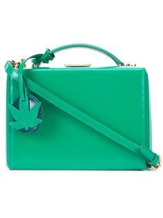 маленькая сумка на плечо 'Grace Box with Leaf Charm'  Mark Cross