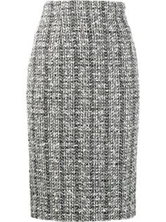 твидовая юбка-карандаш Alexander McQueen