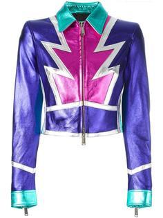 укороченная куртка с эффектом металлик Dsquared2