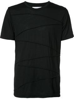 футболка с деталью в рубчик Private Stock