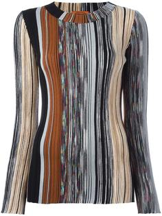 трикотажная блузка в рубчик Missoni