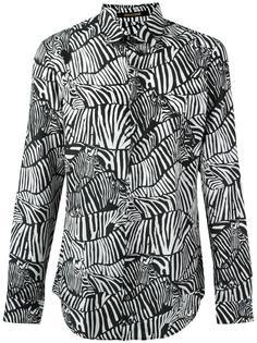 рубашка с зебровым принтом Roberto Cavalli