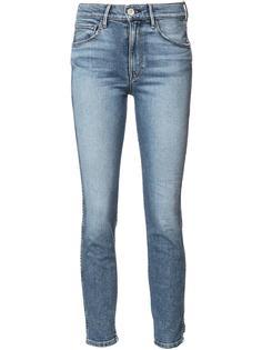 джинсы скинни с потертой отделкой 3X1