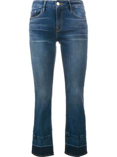 укороченные джинсы с контрастными краями Frame Denim