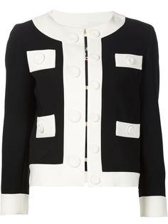 укороченный пиджак с монохромным принтом Boutique Moschino