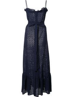 длинное кружевное платье Lisa Marie Fernandez