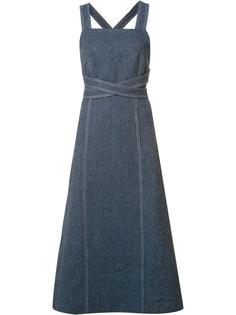 платье с перекрещивающимся поясом Rosetta Getty