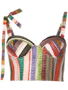 укороченная блузка 'Melted Rainbow'  Rosie Assoulin