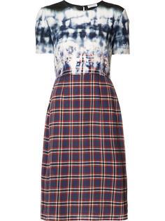 tie dye check fitted dress  Altuzarra