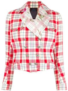 checked jacket John Galliano Vintage