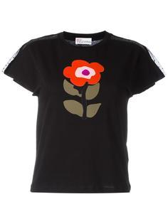 футболка с принтом в виде цветка Red Valentino