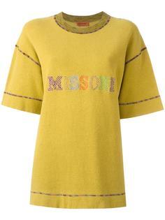 embroidered logo T-shirt  Missoni Vintage