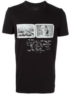 футболка со стилизованным комбинированным принтом  Blood Brother