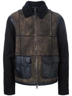 куртка с панельным дизайном из овчины Giorgio Brato