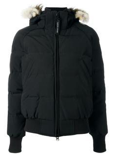 куртка-пуховик с капюшоном и мехом койота Canada Goose
