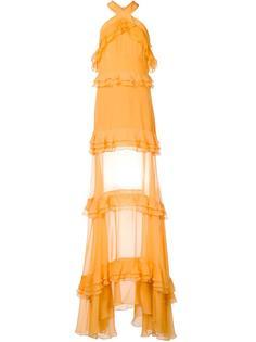 многоярусное платье с рюшами Prabal Gurung