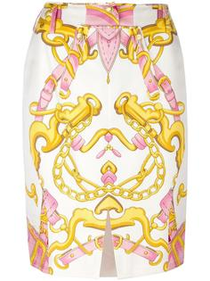 chain print skirt Christian Dior Vintage