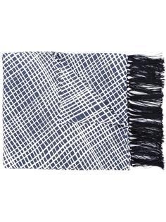клетчатый шарф с бахромой E. Tautz