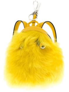 брелок 'Bag Bugs' в форме рюкзака с мехом бобра Fendi