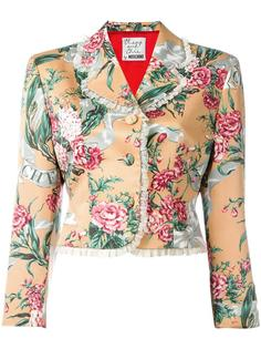 floral cropped jacket  Moschino Vintage