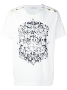 футболка с пуговицами Pierre Balmain