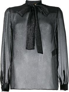 прозрачная блузка с люрексом Saint Laurent