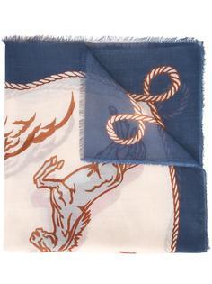 шарф с принтом лошадей Stella McCartney