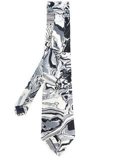 marble print tie  Yohji Yamamoto Vintage