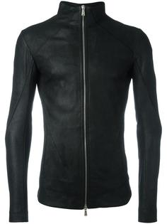 high neck leather jacket 10Sei0otto