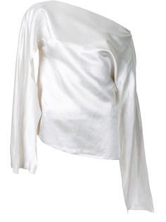 блузка на одно плечо Christopher Esber