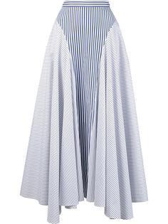 асимметричная юбка в полоску Adam Lippes