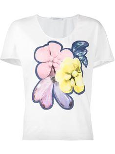 футболка с цветочным принтом Viktor & Rolf